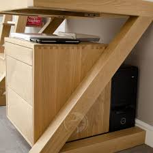 Small Oak Computer Desk Z Shape Solid Oak Small Computer Desk Oak Furniture Uk