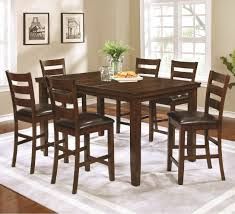 Counter Height Dining Room Table Coaster 107038 039 Golden Brown Counter Height Dining Table And