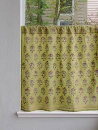 Asian Curtains Green Asian Cafe Curtain Decorative Kitchen Tier Curtains Green