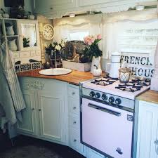 my french farmhouse kitchen in my trailer yes i camp this way