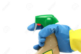 House Keeping by Housekeeping And Cleaning Concepts Hand With Glove And Sprayer