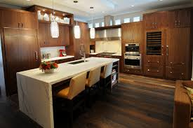 wooden kitchen island combined l shape cabinet with countertop
