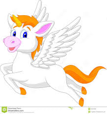 white unicorn horse cartoon stock photos image 33234003