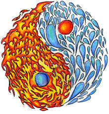 yin yang with fire and water by teh ch33z on deviantart