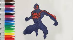 spiderman 2099 angry coloring pages ultimate spiderman