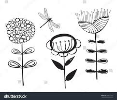 decorative flower decorative flower dragonfly stock vector 299877644 shutterstock