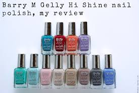 m gelly hi shine nail polish my review