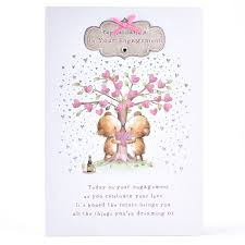 Congratulations On Engagement Card Engagement Card Bears Kissing Under Heart Tree Card Factory