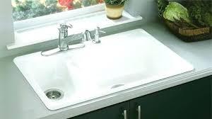 cast iron drop in sink cast iron kitchen sink bisque double bowl cast iron drop in kitchen
