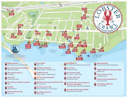 Plymouth Massachusetts Map by Lobster Crawl Map Plymouth Area Chamber Of Commerce
