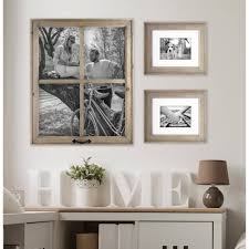Picture Wall Collage by Better Homes And Gardens 4 Opening Rustic Windowpane Collage Frame