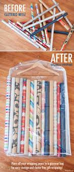 wrapping paper holder repurposed home organizers home organizing hacks and ideas