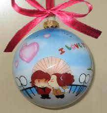 reverse hand painted glass ornament ornaments ball painting