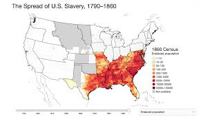 Map Of The United States In 1860 by An Interactive Map Of Slavery Mapping The Nation Blog