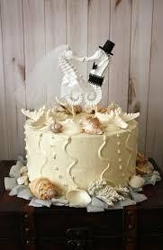 Cake Decorations Beach Theme - kissing seahorse wedding cake topper beach themed wedding cake