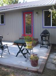 Backyard Concrete Patio Concrete Patio Ideas For Small Backyards Interior Home Design