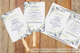 Diy Fan Programs Diy Wedding Fan Program Template Download Instantly Editable