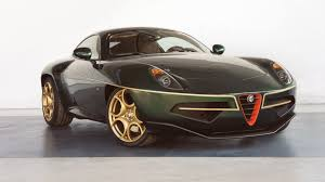 touring dresses its alfa disco volante in green and gold for