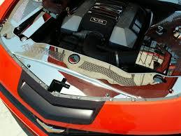 2012 camaro engine camaro radiator cover polished w perforated insert w caps 2010