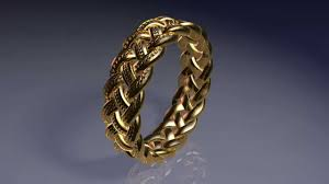3d printed gold jewellery 3d printed celtic knot ring gold plated brass material