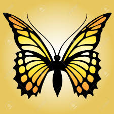 yellow clipart monarch butterfly pencil and in color yellow