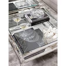eichholtz coffee table harvey sliding top silver https www
