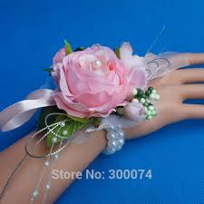 wrist corsage supplies wedding decoration bridesmaid wrist corsage artifical tea