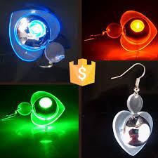 light up christmas earrings flash light up led earring drop blinking christmas earrings light up
