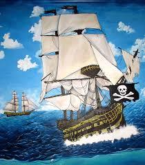fort worth dfw dallas texas muralist saxonlynn arts pirate ship galleon mural mesquite tx