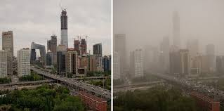dusty china dust storms blanket beijing and northern china the new york times