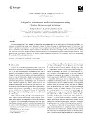 fatigue life evaluation of mechanical components using vibration