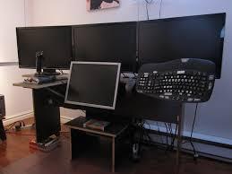 flight sim computer 4 monitors fsx desk for sale