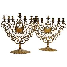 menorah for sale pair of 19th century bronze synagogue menorahs for sale at 1stdibs