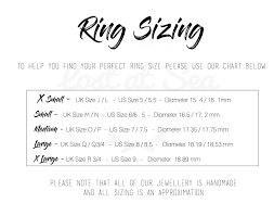 size 9 ring in uk ring sizing lost at sea jewellery