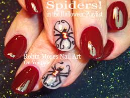 robin moses nail art spider nails black widow nails spider