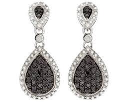 black dangle earrings ø black diamond earrings shop online for black diamond jewelry ø