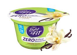 light and fit vanilla yogurt vanilla greek yogurt with zero artificial sweeteners light fit