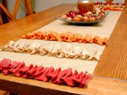 embellish a burlap table runner the bright ideas