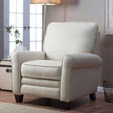 reclining back chair with ottoman barcalounger meridian ii leather push back recliner from hayneedle