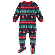 jammies for your families snowman fairisle microfleece footed pajamas