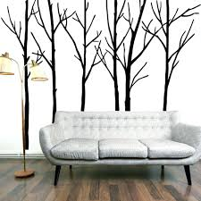 Birch Tree Decor Wall Ideas Birch Tree Wall Art Sticker Modern Large Tree Wall