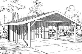 Carport With Storage Plans Traditional House Plans Carport 20 094 Associated Designs