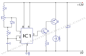 12v dc light dimmer circuit using 555 timer ic electronic circuits