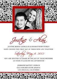 wedding invitations template psd photoshop gimp damask red
