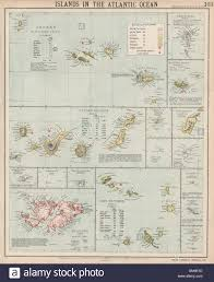 Azores Map Atlantic Islands Azores Madeira Canary Cape Verde Falklands