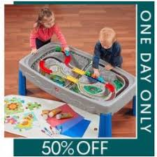 train and track table step2 deluxe canyon road train track table set 59 99 today only