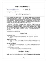 desktop support resume desktop support technician resume sle 1 e yahoocomau m inssite