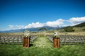 wedding venues in montana 6 open air outdoor wedding venues in montana weddingwire