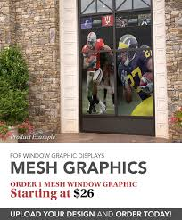 window posters mesh window graphics mesh posters and store signs imagers