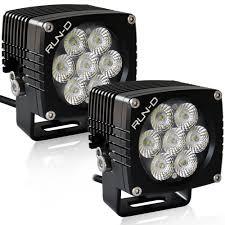 com run d 35w cree led driving lights 3 flood off road work light 1 pair automotive
